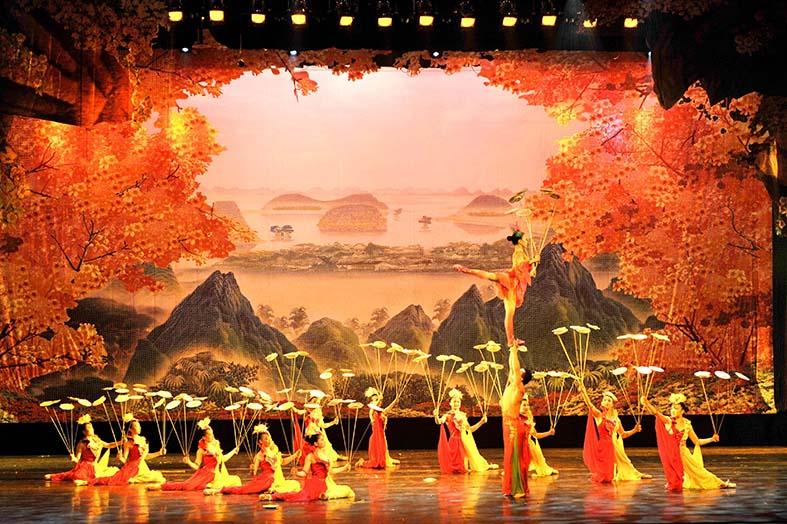 湖南省杂技艺术剧院的全彩LED屏工程项目由明和集团承建