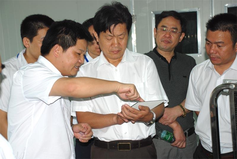 湖南省文化厅周用金厅长考察明和光电