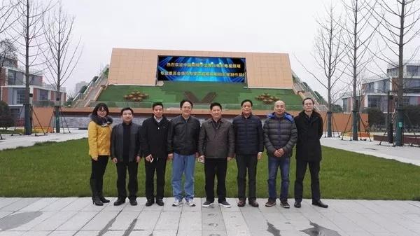 调研组专家一行参观马栏山视频文创产业园内正在建设的明和影视制作基地