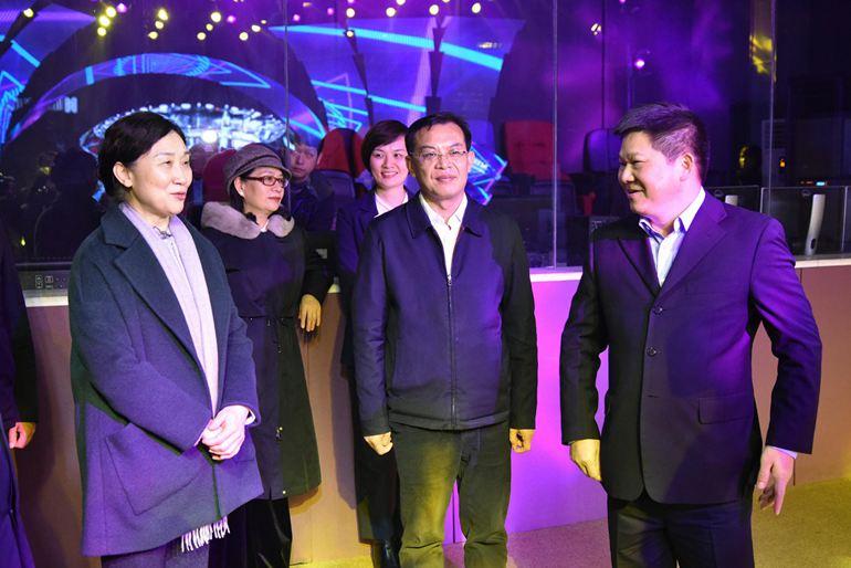 湖南省政协主席、党组书记李微微率队莅临明和产业园视察调研