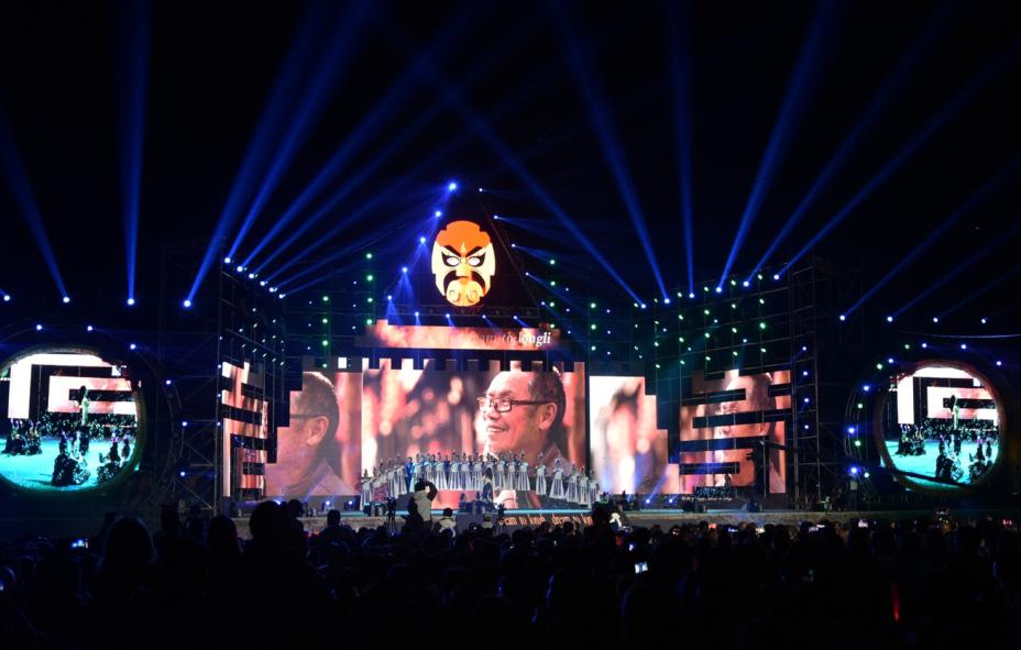 """第二届中国国际隆里新媒体艺术节 明和展示《花脸·""""龙""""里》"""